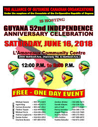 ind alliance alliance of guyanese canadian organizations guyana s 52nd