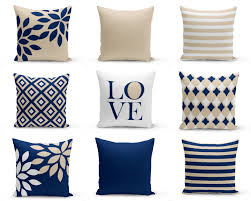 Navy Blue Outdoor Furniture Covers - throw pillow covers navy coral pillows cushion covers home