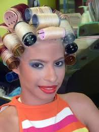 sissified permed hair curled boi s always have a pretty smile curlers pinterest
