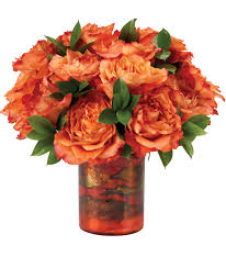 orange roses caribbean sunset bouquet orange arrangements calyx flowers