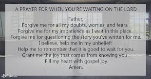 a prayer for when you are waiting on the lord fox