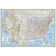 Map Of The United States With Major Cities by Us Wall Maps Laminated Us Map Posters National Geographic Store