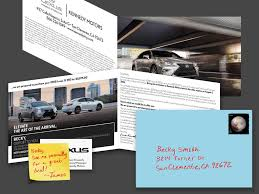 lexus service manager hand addressed direct mail kennedy marketing group