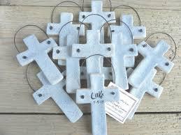 baptism ornament favors personalized cross baptism favors set of 12 christening easter