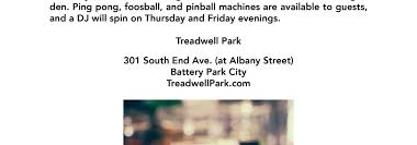 treadwell park opens second location in battery park city