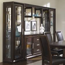 najarian brentwood china cabinet with server light bridge and