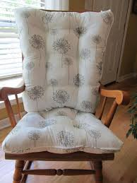 Rocking Chair Cushion Sets For Nursery Tufted Custom Rocker Or Rocking Chair Cushion Set In White Grey
