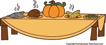 thanksgiving feast clipart png clipartxtras