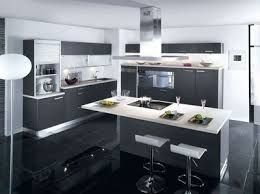 cuisine americaine avec ilot modele de cuisine ouverte avec ilot cuisine en image