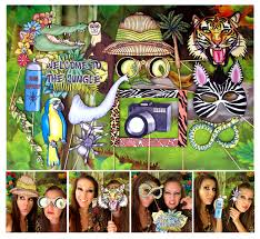 themed photo booth jungle explorer photo booth props for your safari or