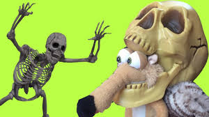 halloween cartoon skeleton scary ice age 5 squirrel halloween cartoon w skeleton dark castle