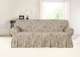 Skirted Vanity Chair Sure Fit Tennyson Box Cushion Sofa Slipcover U0026 Reviews Wayfair