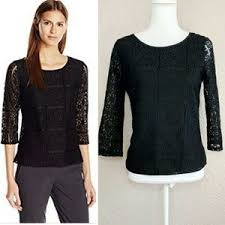 sleeve lace blouse 60 papell tops papell 3 4 sleeve lace