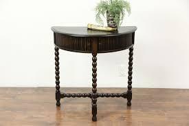 Quartz Console Table Console Table Oak Antique Demilune Half Console Table