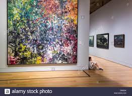 painting chevreuse ii by jean paul riopelle on display in