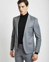 the idle suit jacket in fit grey at the idle