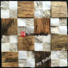 Stone Mosaic Tile Kitchen Backsplash by Ancient Wood Mosaic Stone Mosaic Kitchen Wall Tile Backsplash