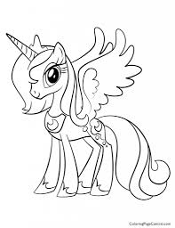 inspirational pony princess coloring pages 17