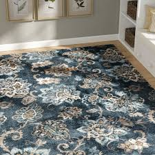 Blue Brown Area Rugs Charlton Home Navy Blue Brown Area Rug Reviews Wayfair