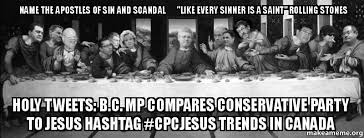 name the apostles of sin and scandal like every sinner is a saint