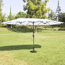 Patio Umbrella Fabric by Amazon Com Best Choice Products 15 U0027 Twin Patio Umbrella Canopy
