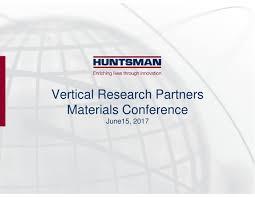 Seeking Que Es Huntsman Corporation Presents At Vertical Research Partners