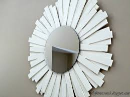 only from scratch sunburst mirror with wooden shims neiman