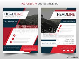 cover layout com red black vector business proposal leaflet brochure flyer template