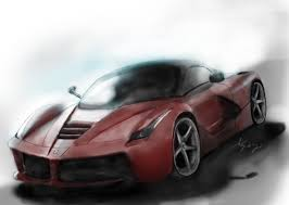 stanced cars drawing drawn ferarri amazing car pencil and in color drawn ferarri