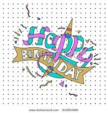 design a cake happy birthday typography vector design greeting stock vector