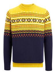 fair isle knit sweater in yolk joseph