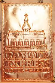 kopper kard postcards vintage ramada express hotel casino embossed postcard copper card