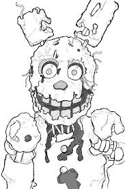 sandy cheeks coloring pages how to draw springtrap from five nights at freddy u0027s 3 step by step