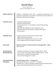 resume format exles documentation of android sle resume for fresh graduates it professional img