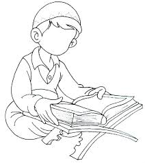 boy reading quran islamic coloring book quran