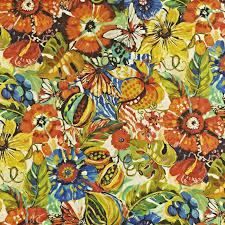 Hawaiian Curtain Fabric Mardi Gras Tropicalgarden Tropical Curtain Fabric
