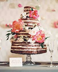 chocolate wedding cakes with fresh flowers wedding cakes with