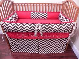 custom crib bedding jessie brown chevron and babybedding