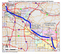 Los Angeles Train Map by High Speed Rail Authority To Study Shared Use Option Between L A