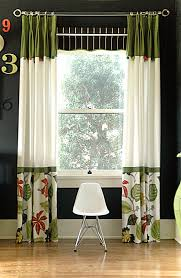 panels how cute i love the trim and mixing of different fabrics curtain ideas