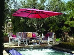 Obravia Treasure Garden Umbrella by Treasure Garden Cantilever Aluminum 10 Foot Wide Crank Lift Tilt