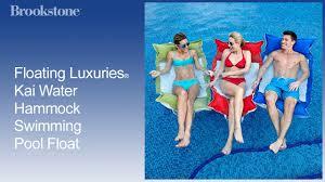 floating luxuries kai water hammock swimming pool float youtube