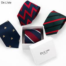 cadeau bureau homme 100 soie hommes cravate motif géométrique avec boîte cadeau