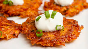 potato pancake grater cheesy sweet potato latkes recipe