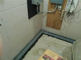 Interior Basement Drainage System Quality 1st Basement Systems Basement Waterproofing Photo Album