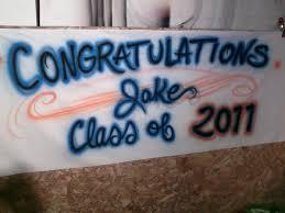 graduation signs airbrushed stuff