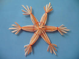 christmas crafts snowflakes with plastic straws scissors craft
