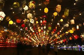 japanese lantern lamp light asian oriental bokeh f wallpaper