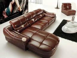 light brown leather sofa as alternative living room furniture