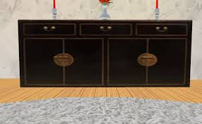 second life marketplace one prim sideboard china black and gold